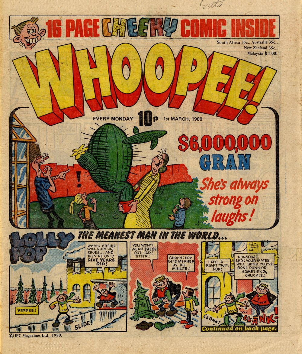 6 Million Dollar Gran: Ian Knox (artist); Lolly Pop: Sid Burgon (artist)