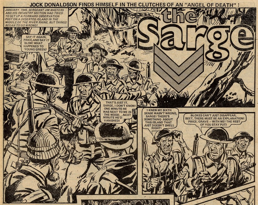 The Sarge: Scott Goodall (writer), Phil Gascoine? (artist)