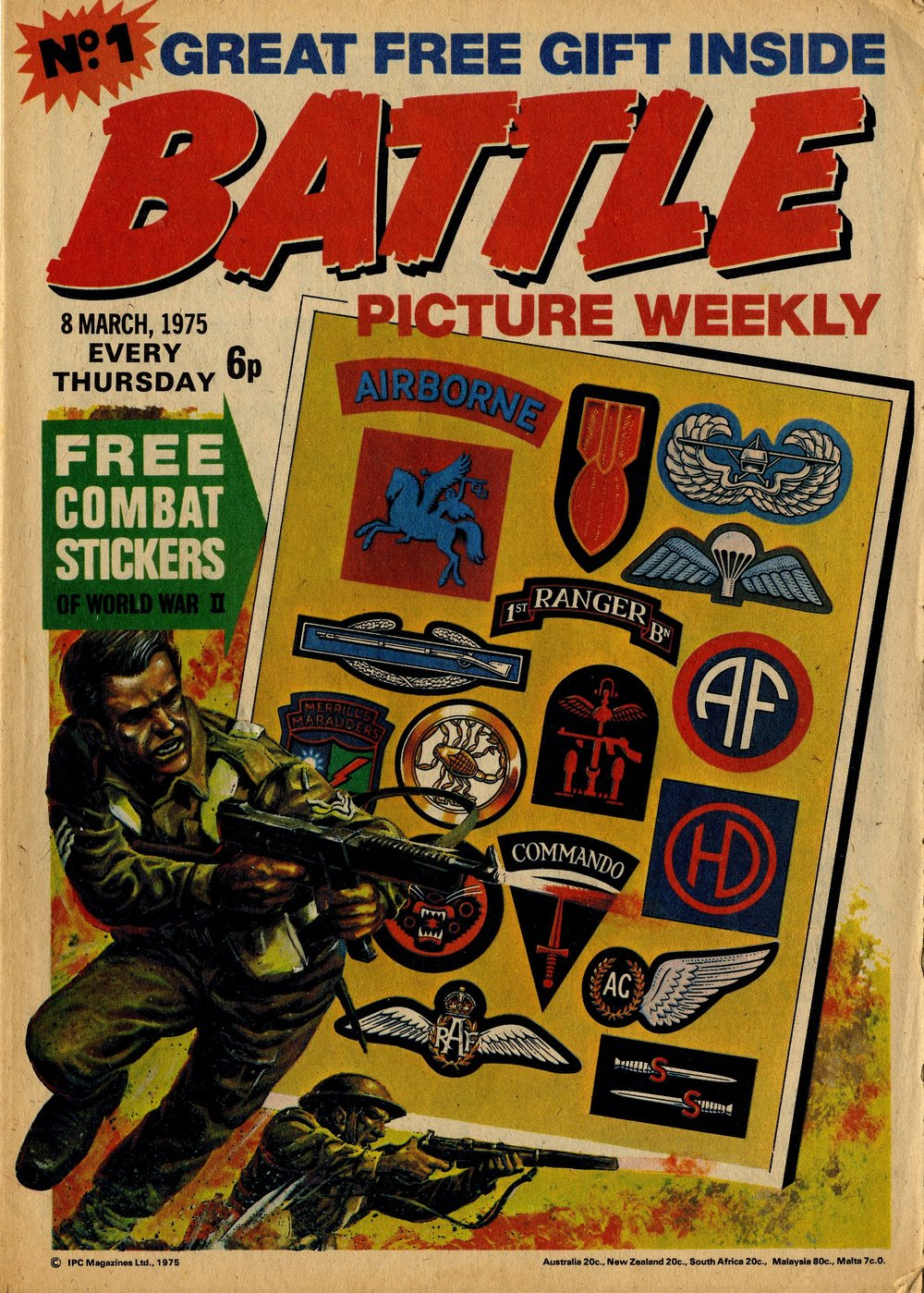 The first issue of Battle Picture Weekly, 8 March 1975