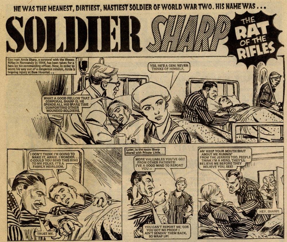 Soldier Sharp: Scott Goodall (writer), artist unknown