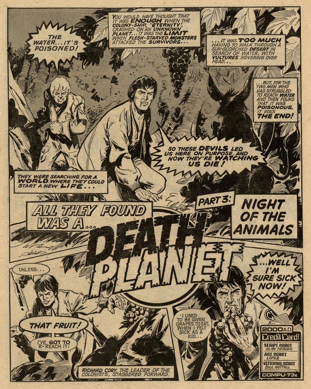 Death Planet: Alan Hebden (writer), Lopez (artist)
