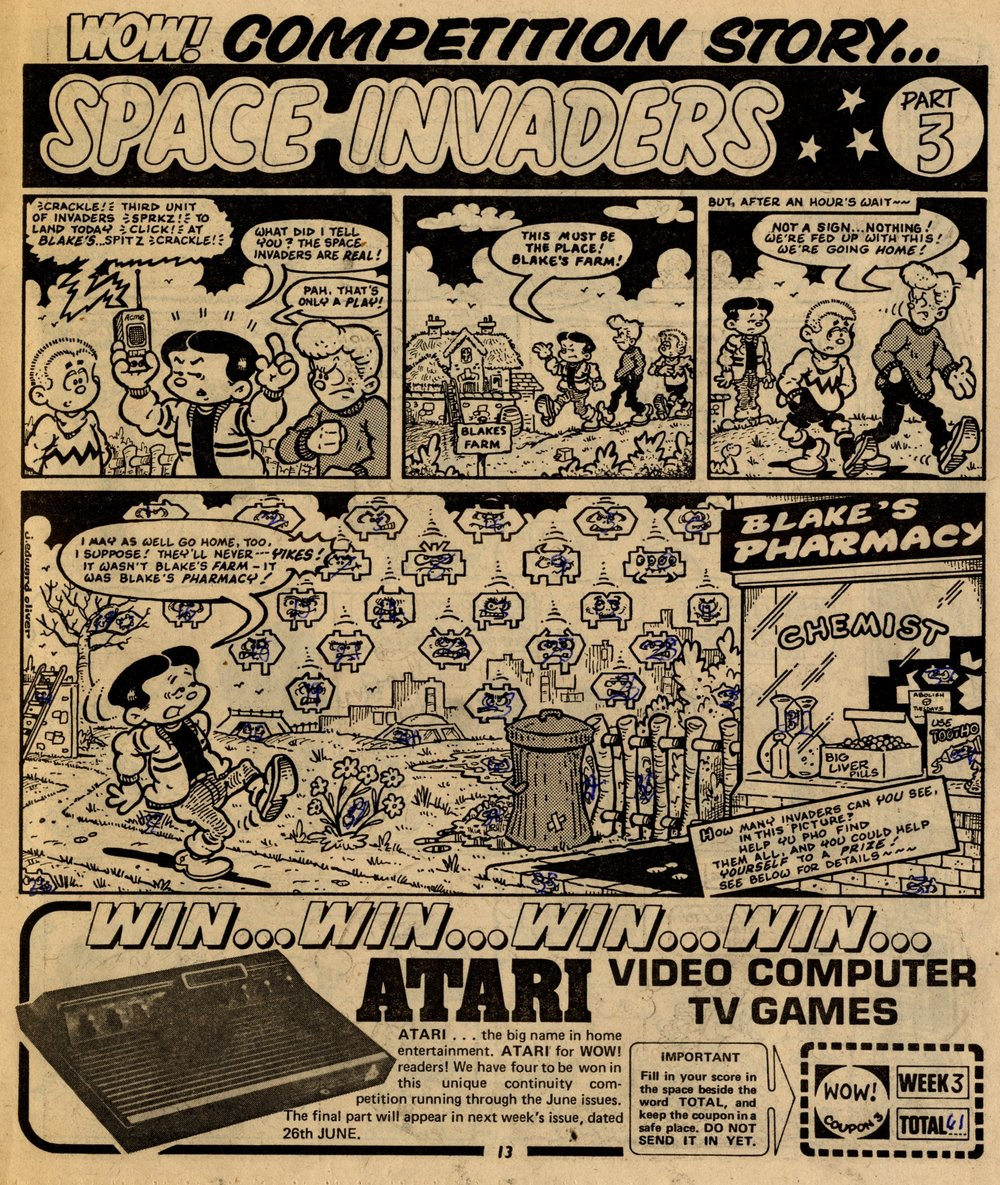 Space Invaders advertisement: Jack Edward Oliver (artist)