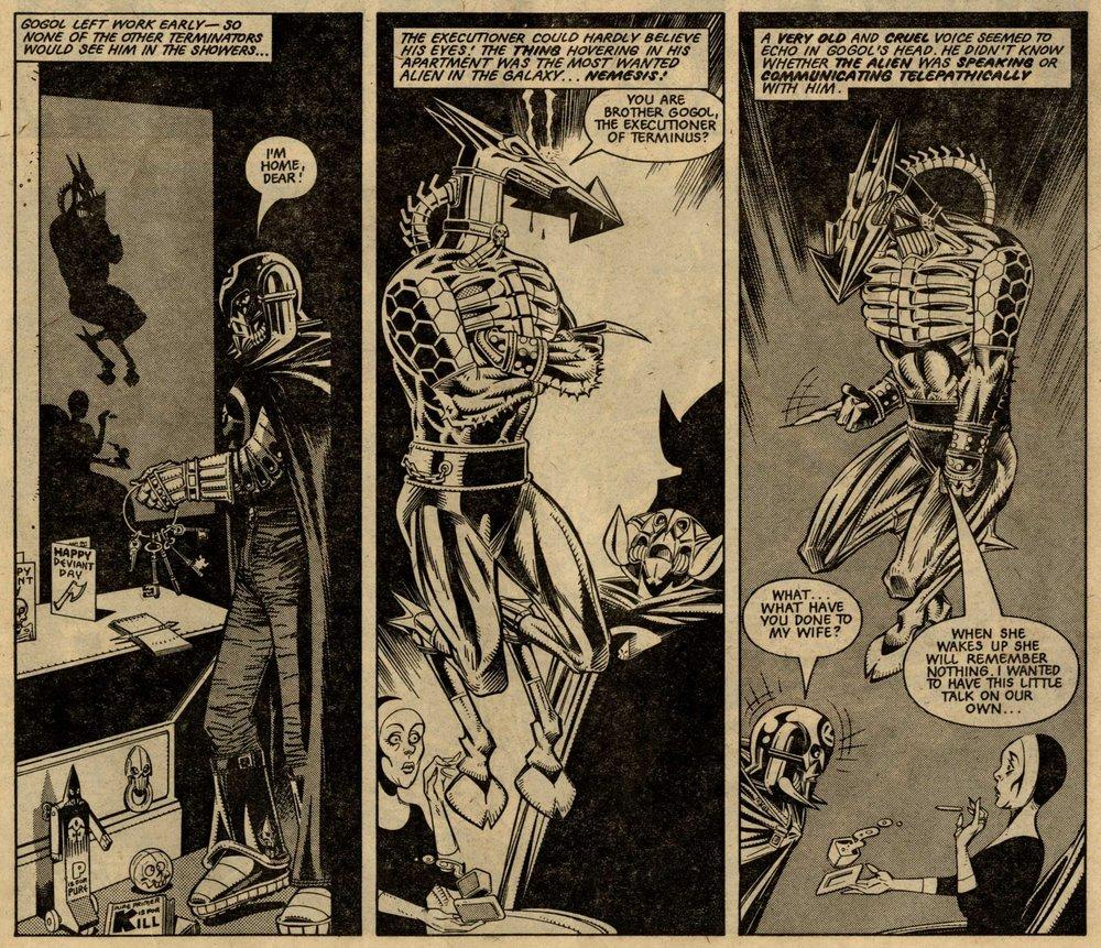 Nemesis the Warlock: Pat Mills (writer), Kevin O'Neill (artist)