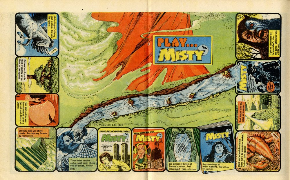 Play Misty game: Shirley Bellwood (central illustration)