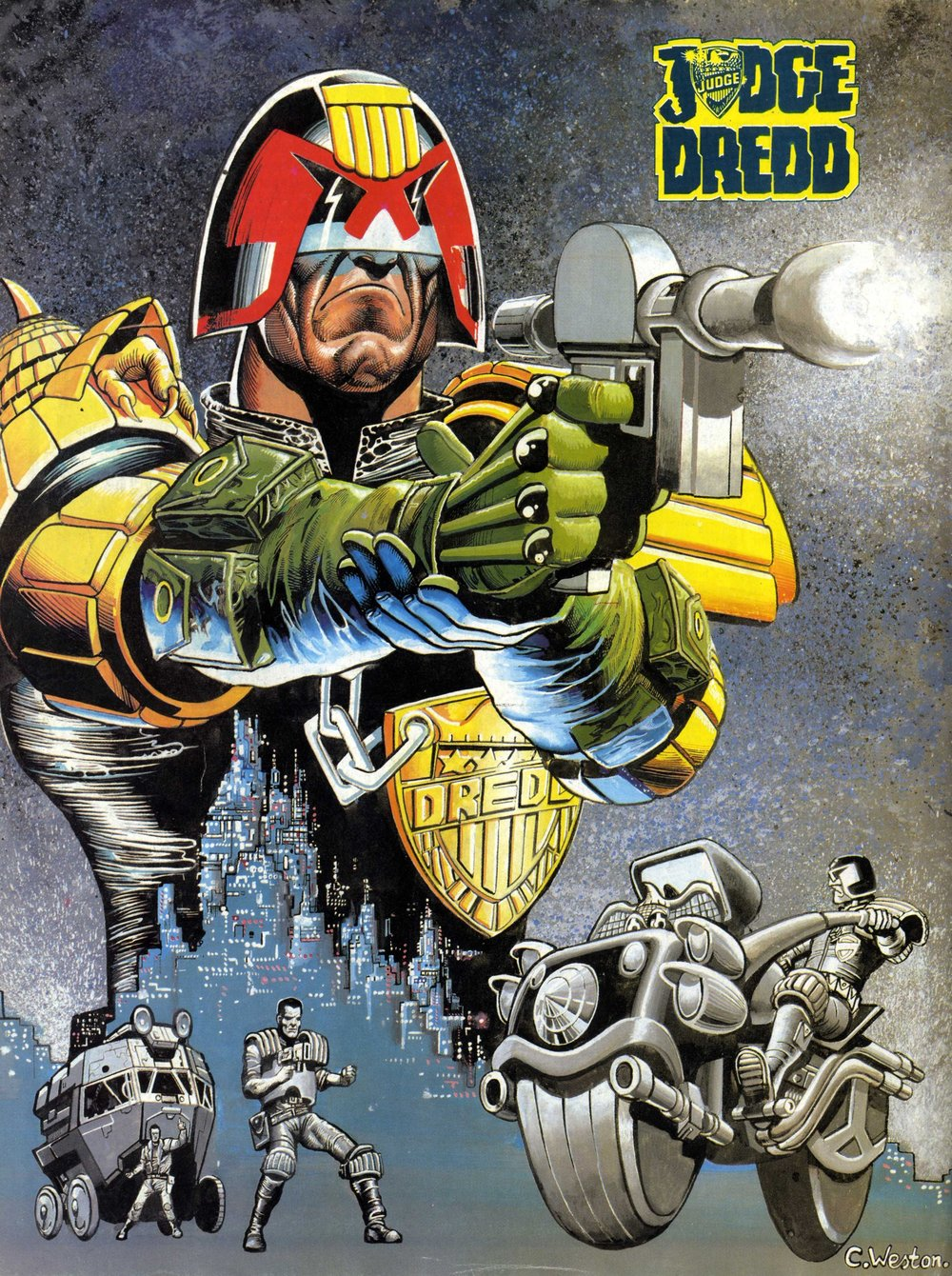 Judge Dredd poster: Chris Weston (artist)