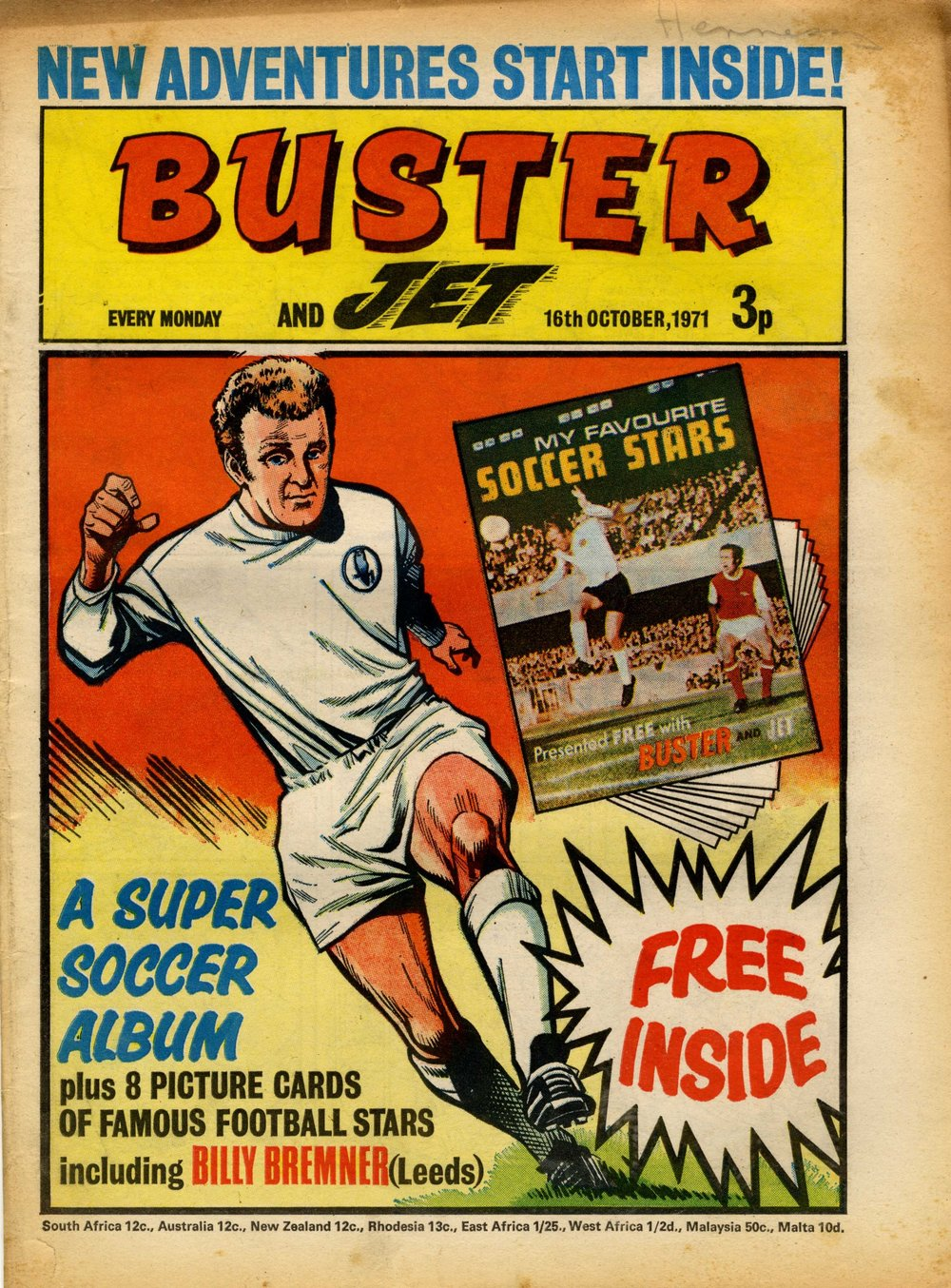 Buster cover artwork: Mike Western