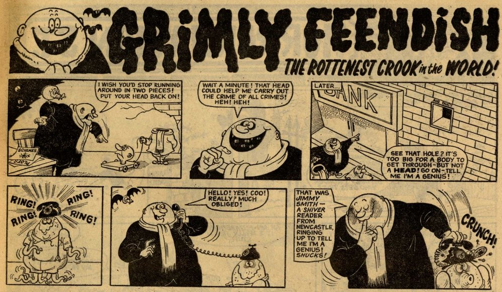 Grimly Feendish, drawn by Leo Baxendale