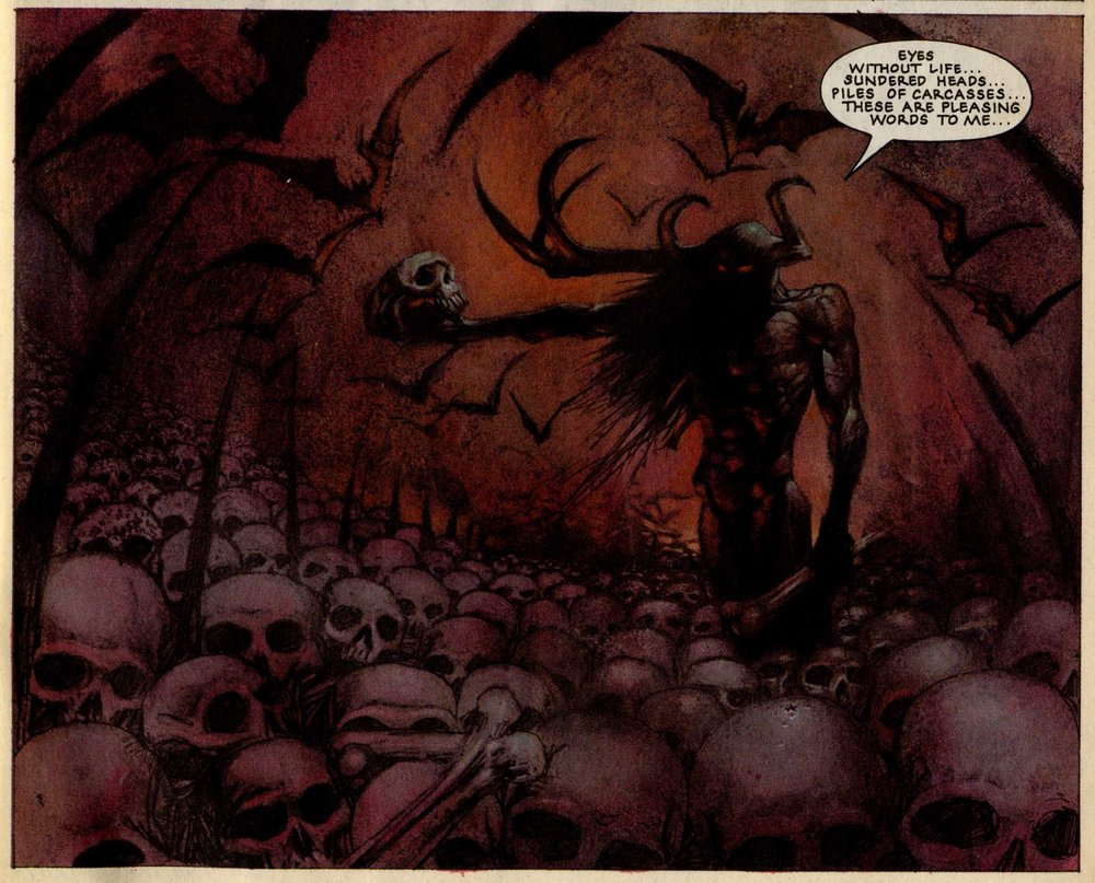 The Lord Wierd Slough Feg, drawn by Simon Bisley