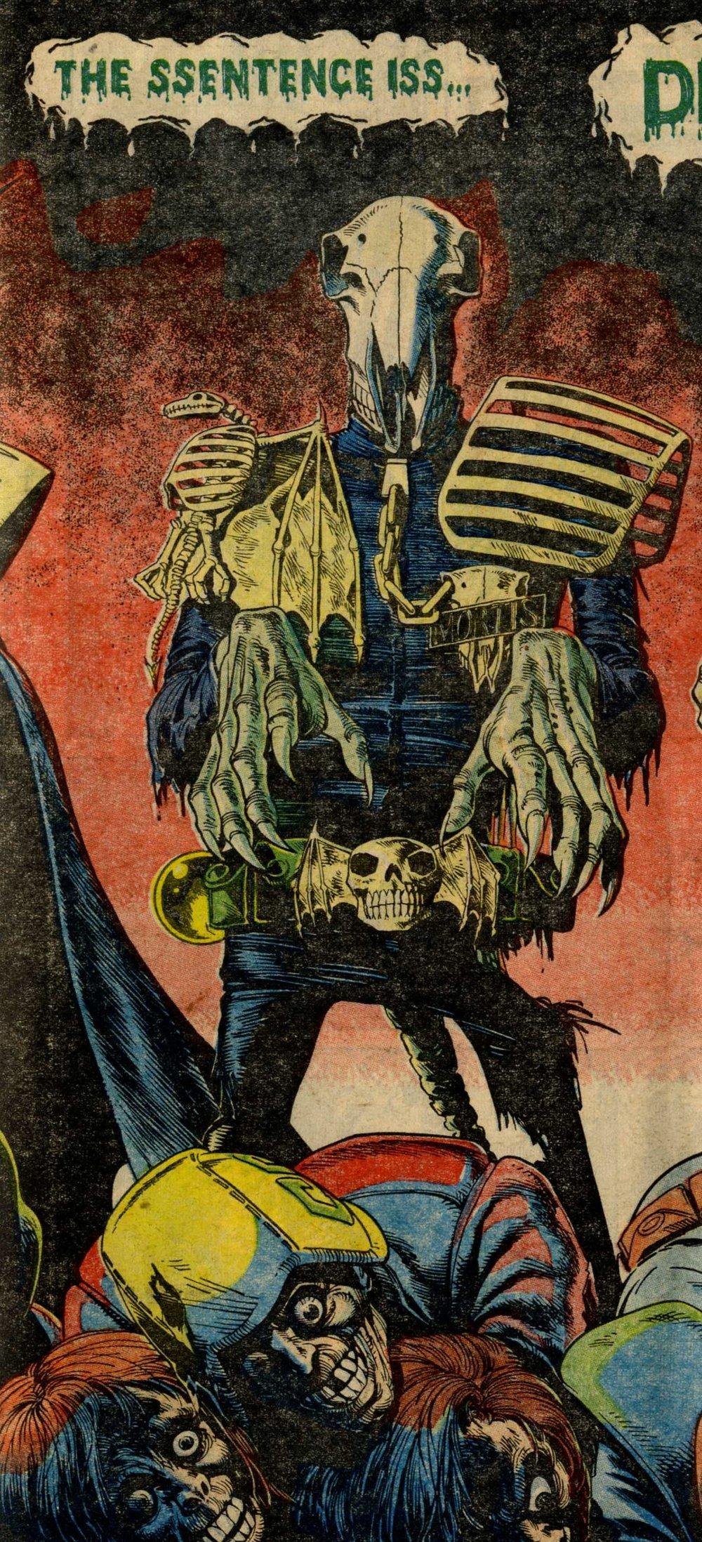Judge Mortis, drawn by Brian Bolland