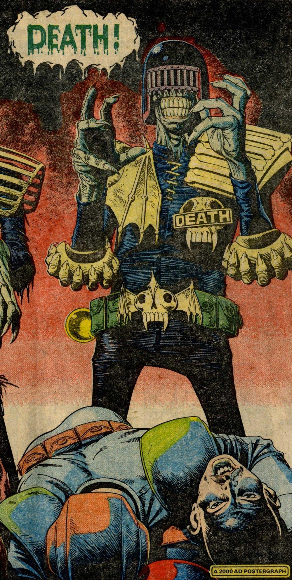 Judge Death, drawn by Brian Bolland