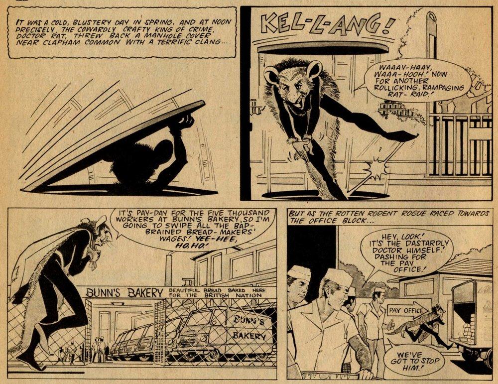 Doctor Rat, drawn by Giorgio Giorgetti