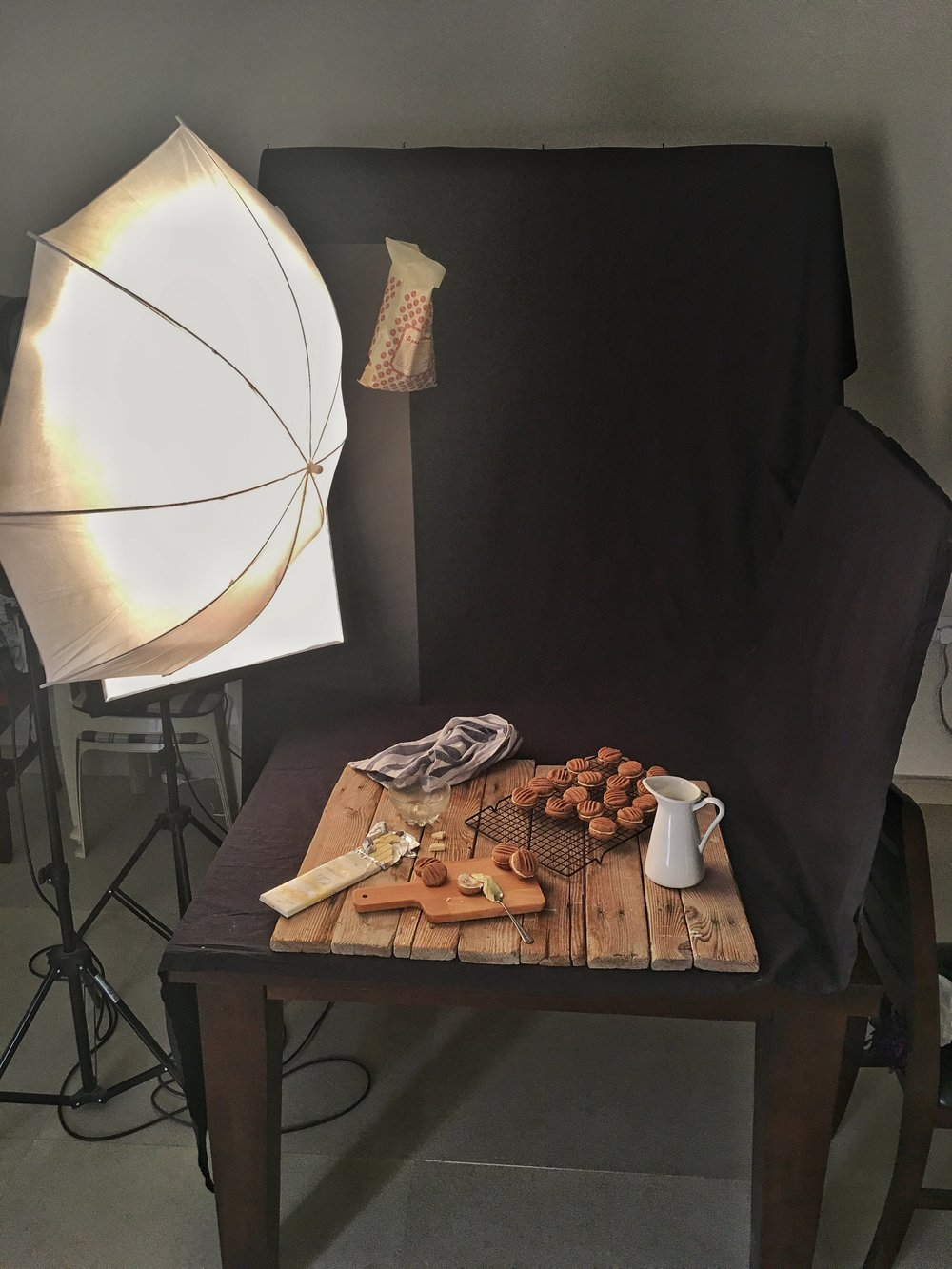 The Woden planks used as the majority of my surfaces for the cookbook food photography.