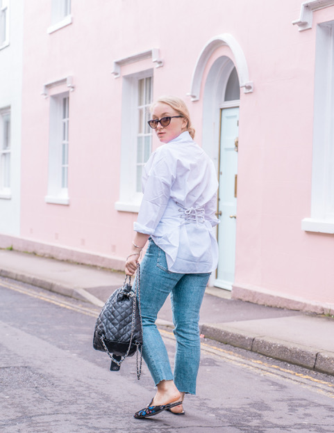 corset shirt white style outfit look blogger.jpeg