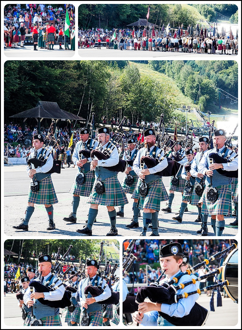 The Clans at The New Hampshire Highland Games in Lincoln