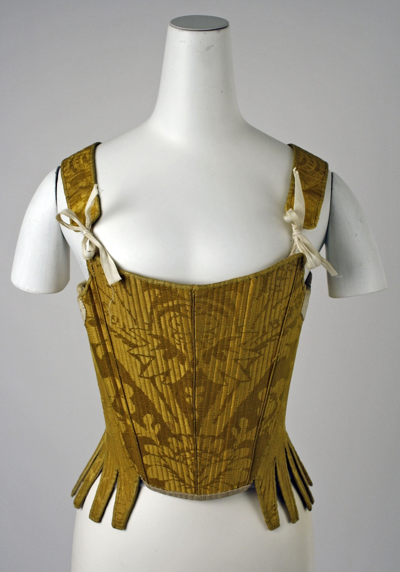 Gold Silk Stays - early 18th century - Spanish - The Metropolitan Museum of Art, NY