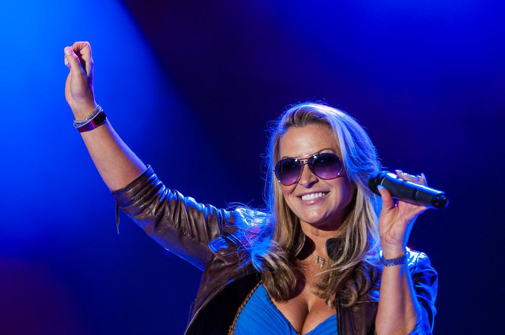 Sängerin Anastacia am Summer Sound Festival in Sursee am 23. Juni 2011. (Markus Frömml)