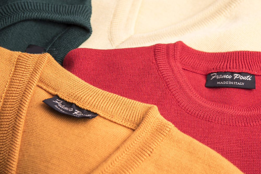 Men's Franco Ponti sweaters at Symonds in Hereford