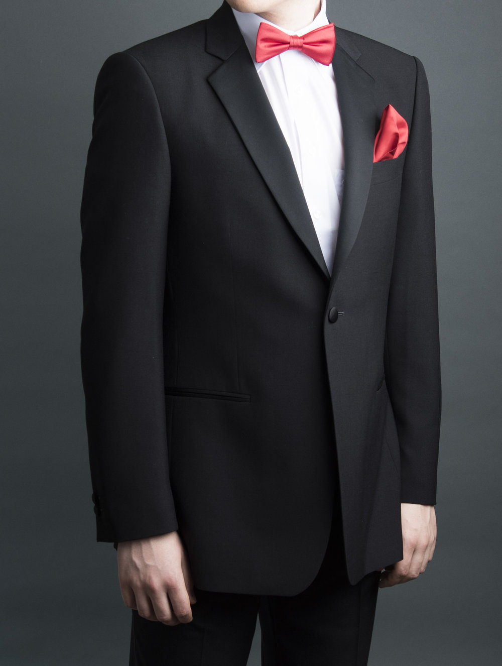 Evening wear with red bow tie and red pocket squares for web.jpg