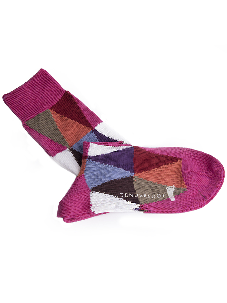 Pink Geometric patterned sock for web.jpg