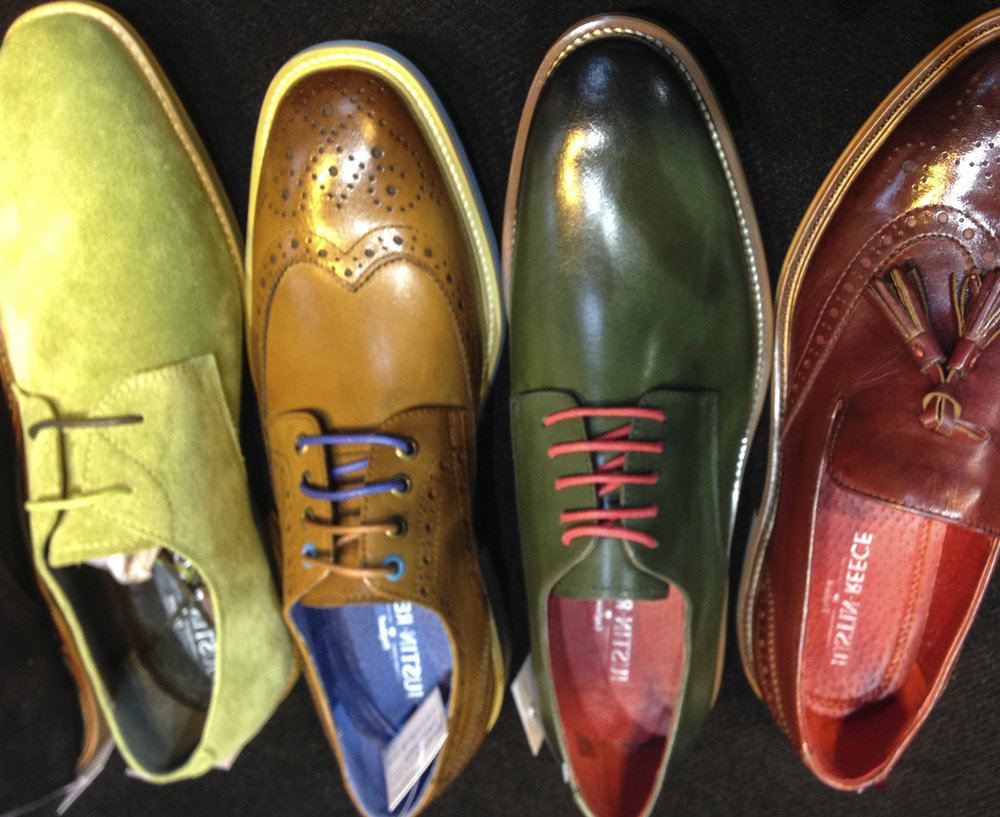 Coloured men's shoes
