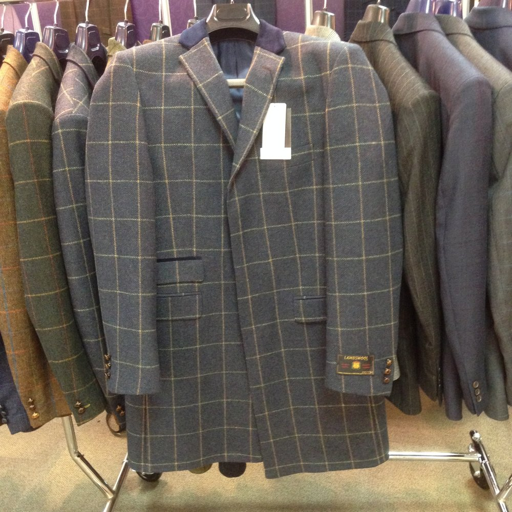 Men's suits at fashion buyers show