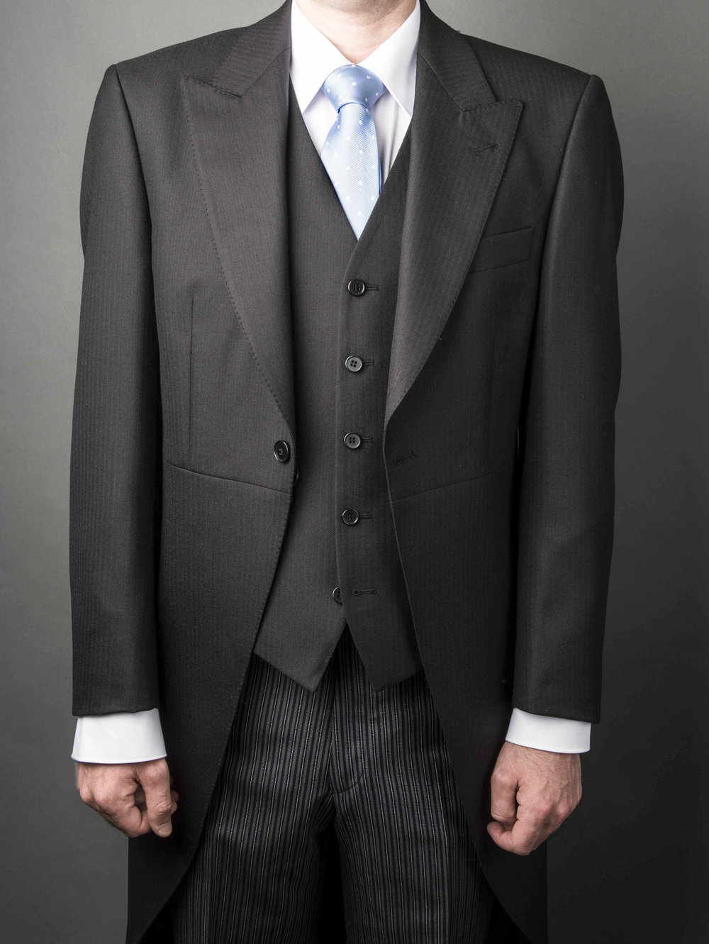 Man's wedding suit at Symonds in Hereford