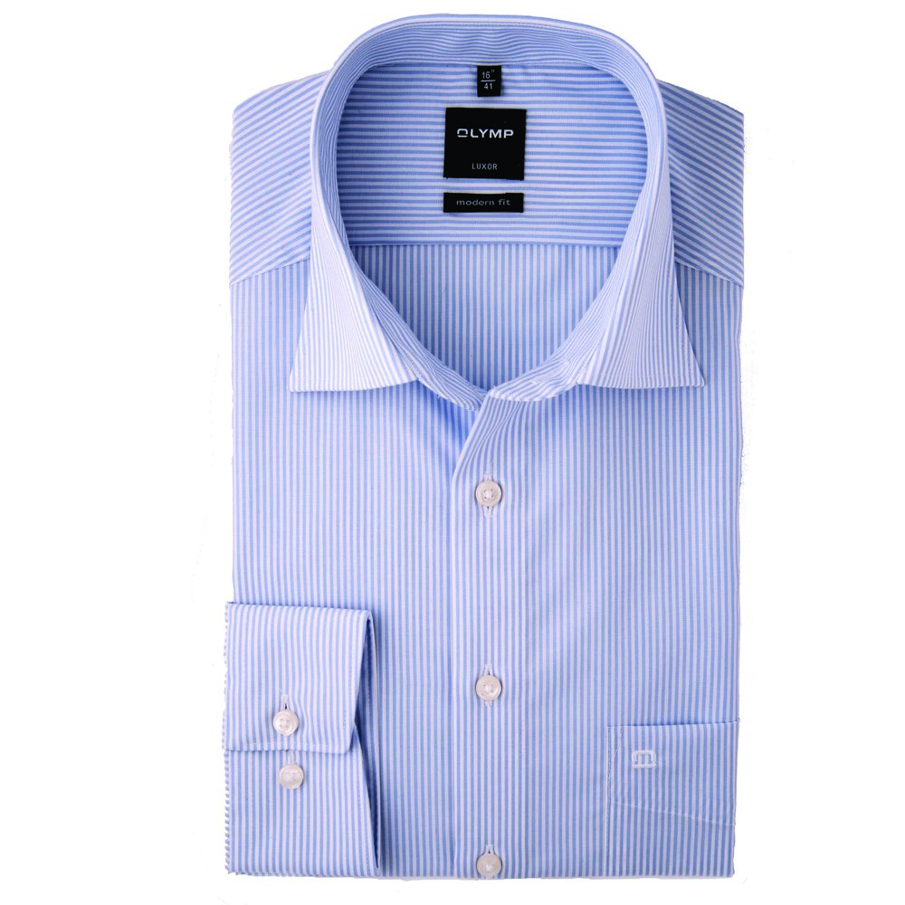 Blue and white striped Olymp Shirt 1.jpg