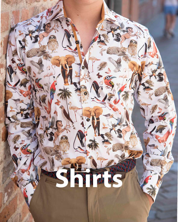 Image gateway to men's shirts sales page on Symonds of Hereford website