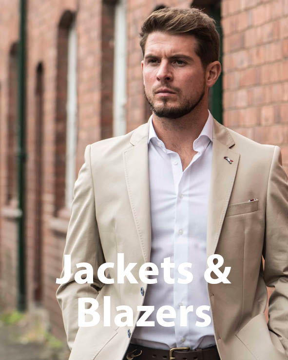 Image gateway to Jackets and Blazers sale page of Symonds of Heredford website