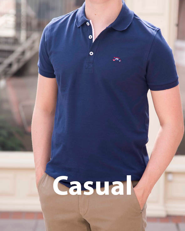 Pink polo shirt from Symonds of Hereford