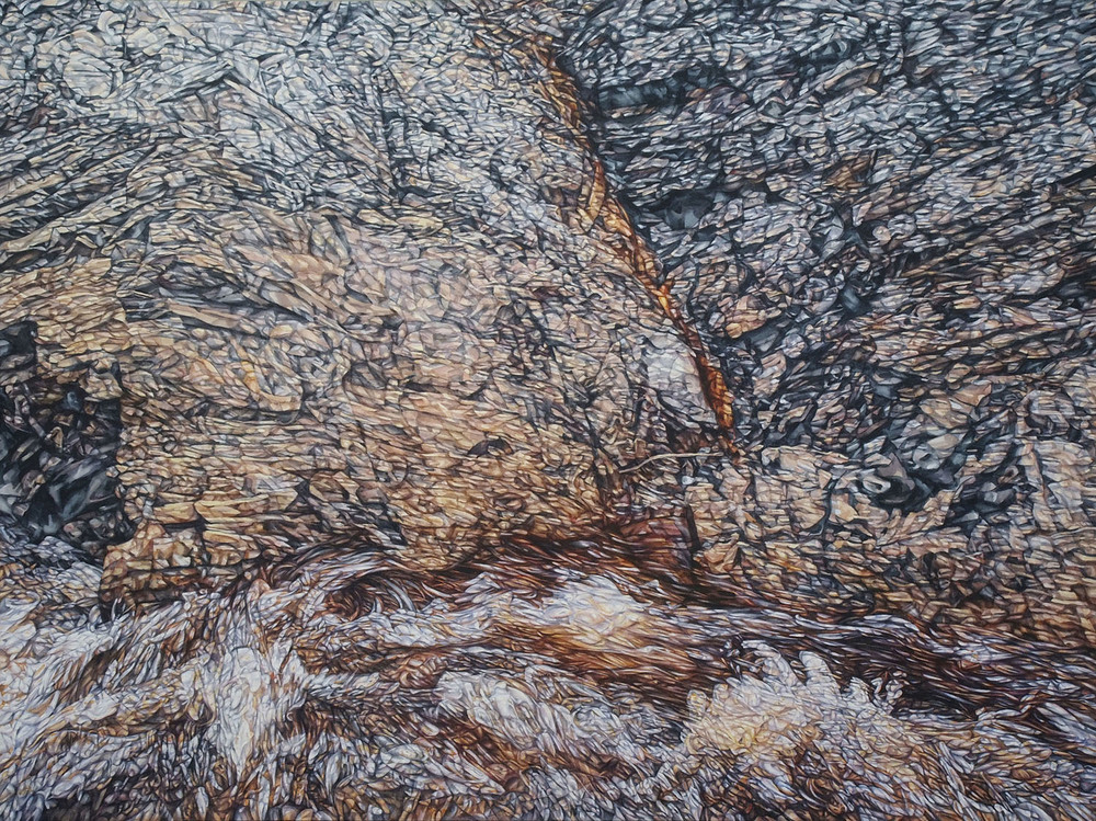 Wild River (The Franklin), watercolour on paper, 92cm x 120cm, 2015