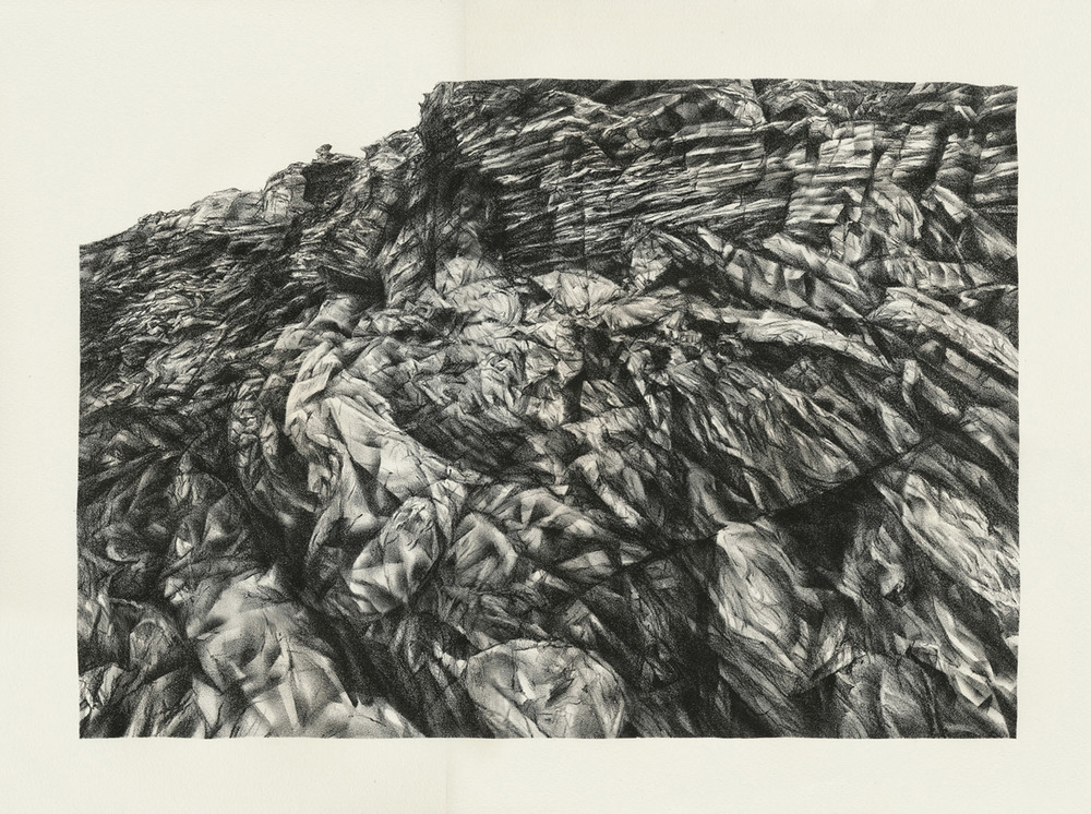 Canyon Wall, lithograph, 38 x 51 cm, edition of 15, 2013.