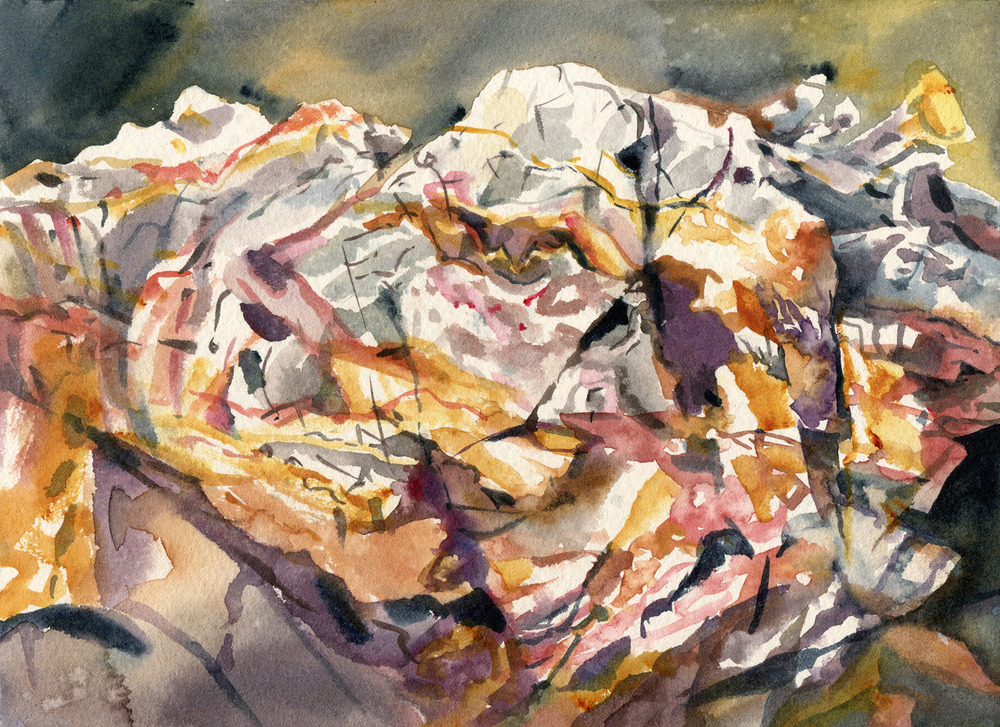 Field Studies (Steens Beach, Hook Island), watercolour on paper, 18cm x 25cm, 2014