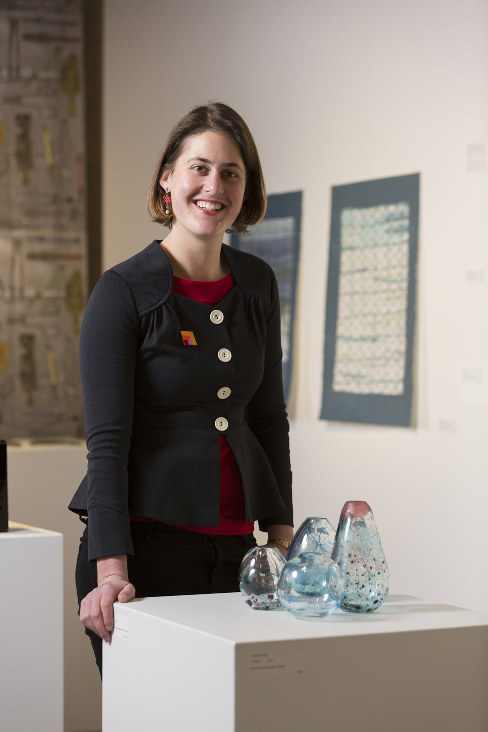 Annika Romeyn, 2014 (photo by Adam McGrath), Canberra Glassworks GLINT exhibition install