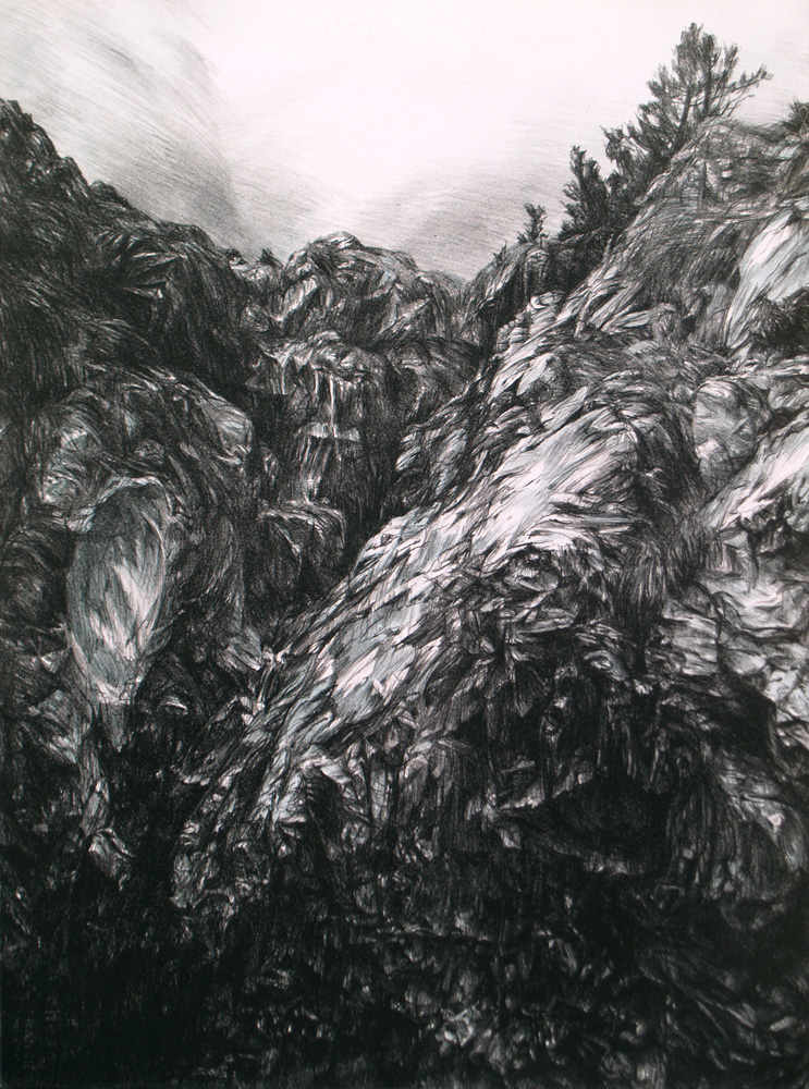Valle de Ordesa, lithograph, 76 x 56 cm, edition of 8, 2012