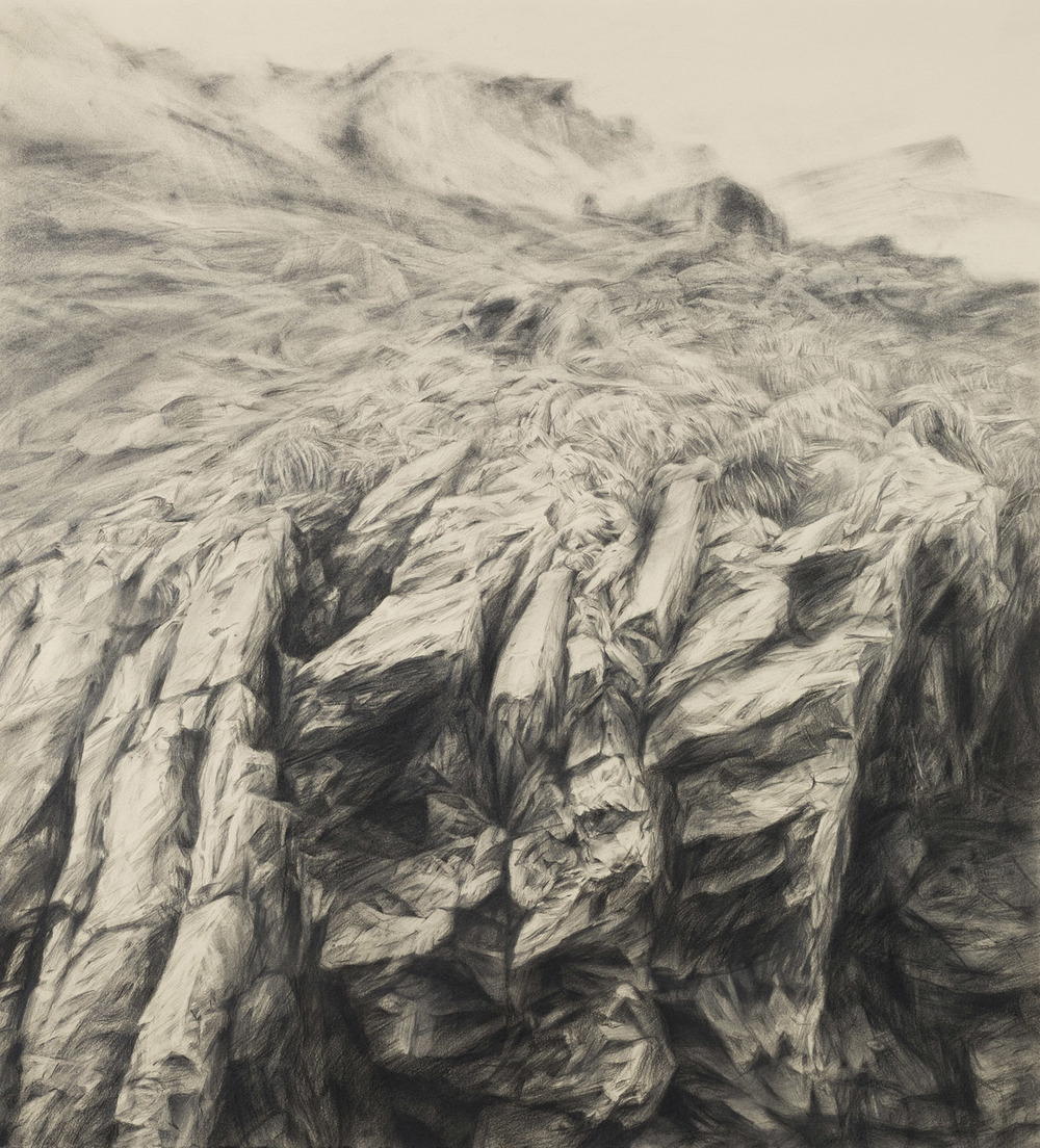 Earth, graphite, 62 x 57 cm, 2012 (photo by Dean Butters)
