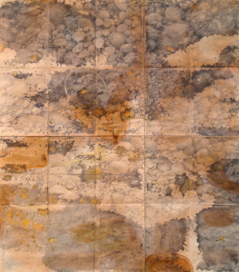 Trail Map II, ink, shellac and pencil, 64 x 55 cm, 2012