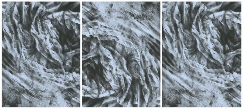 Gyre, lithograph, 38 x 86 cm, unique state, 2012