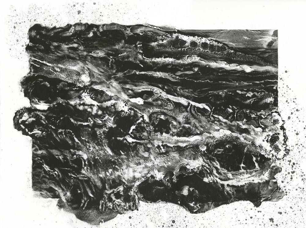 Surge, lithograph, 38cm x 51cm, edition of 5, 2012