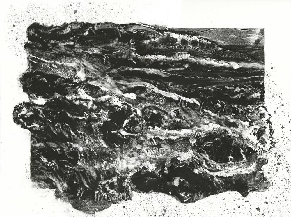 Surge, lithograph, 38cm x 51cm, edition of 5, 2012