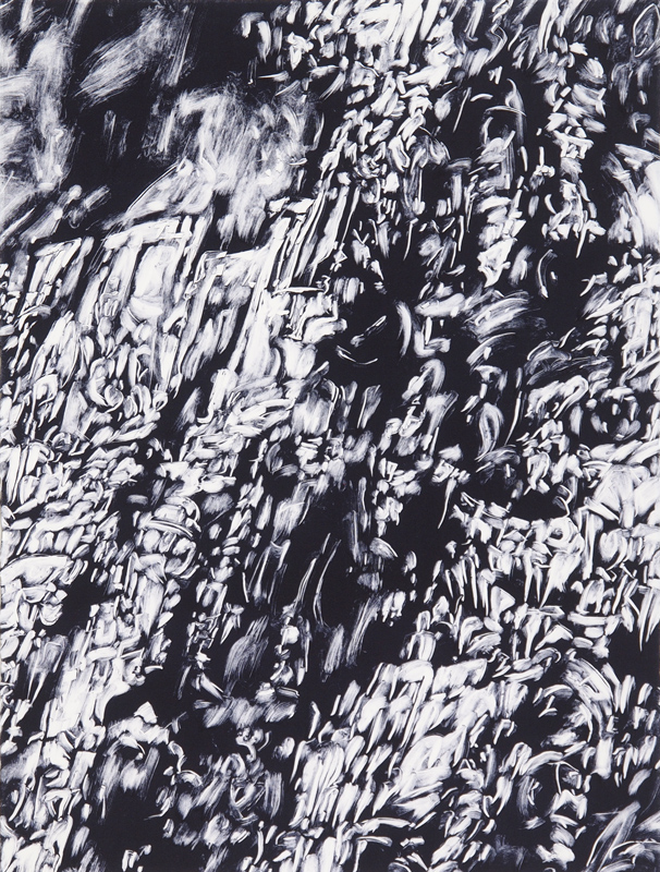 detail from 'Precipice' monotype (one of six panels each 56cmx76cm)