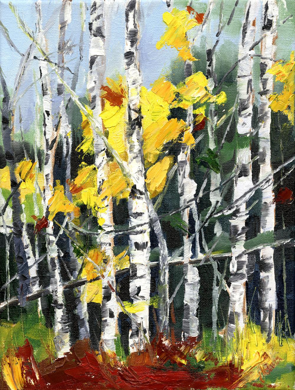 Birches : Sold