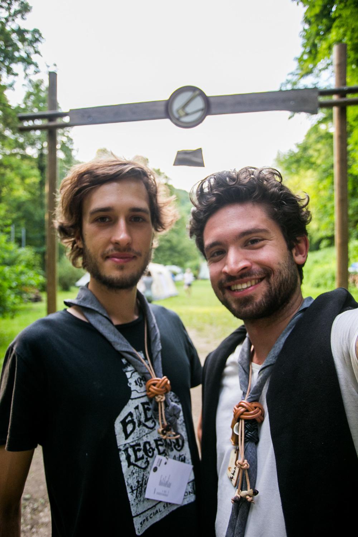 Jakob und Fabian am Woodbagekurs 2016