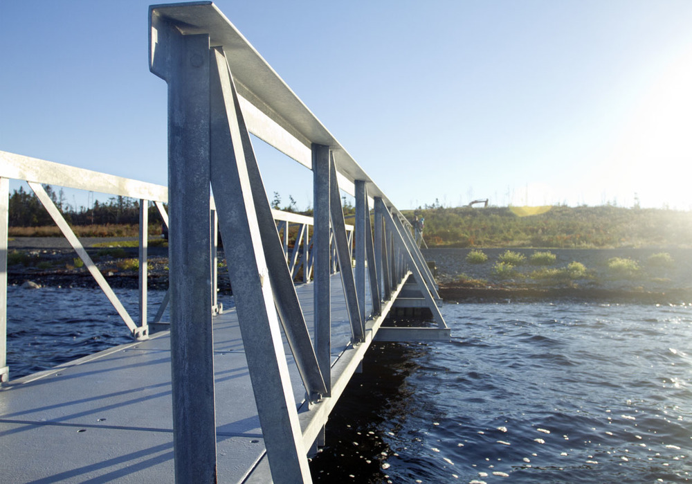 40' Galvanized Steel Ramp, Spry Harbour, NS