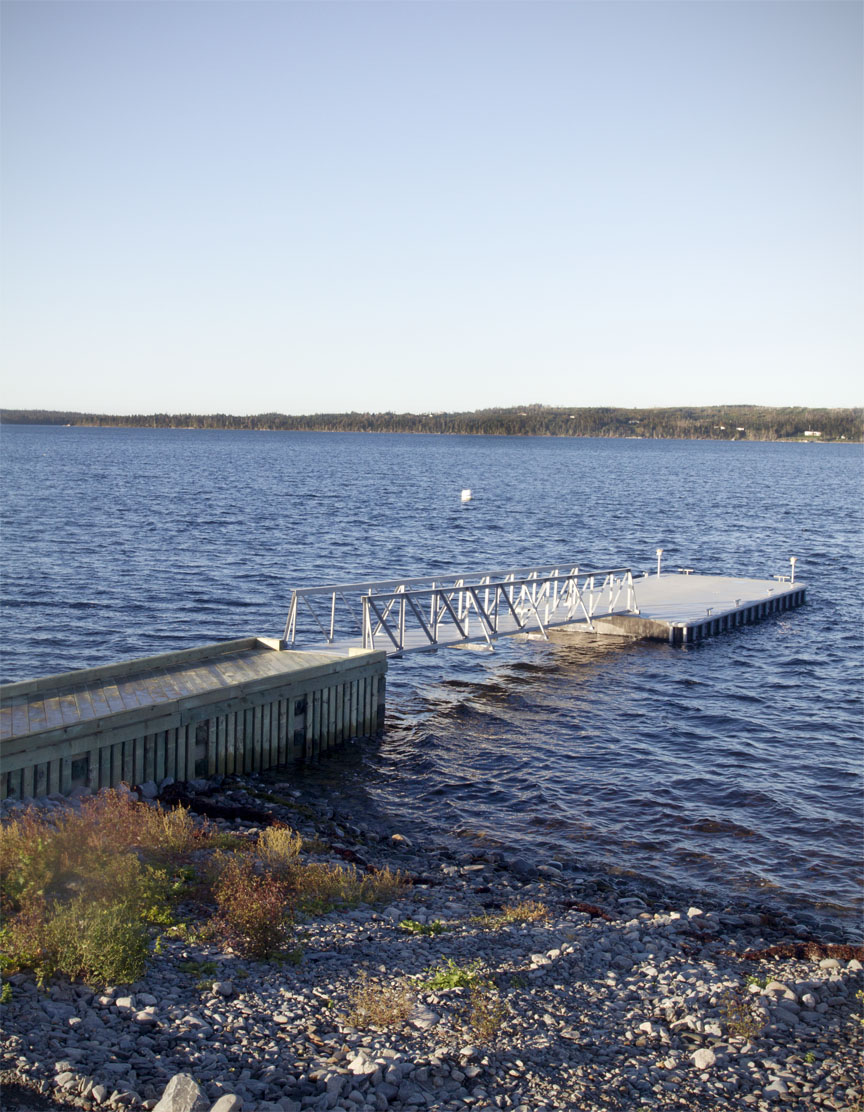 Dock System with 40' ramp & Steel Barge, Spry Harbour, NS