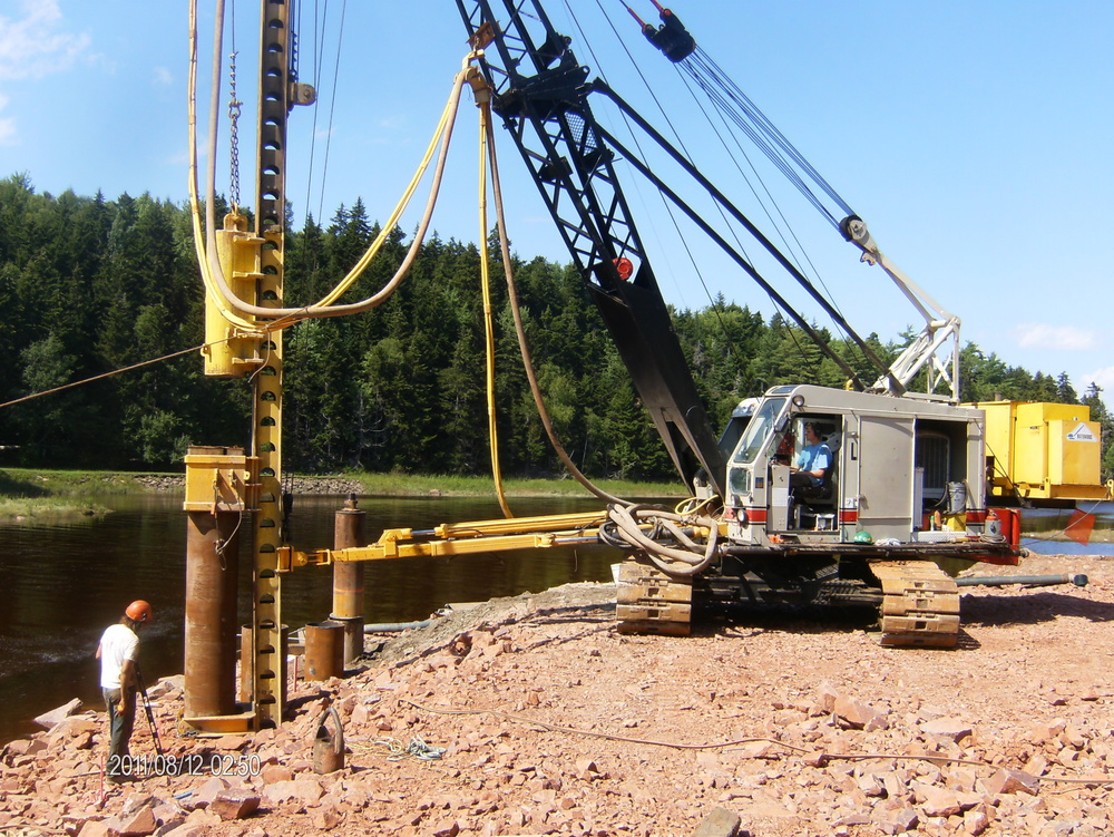 Drop Hammer Pile Installation