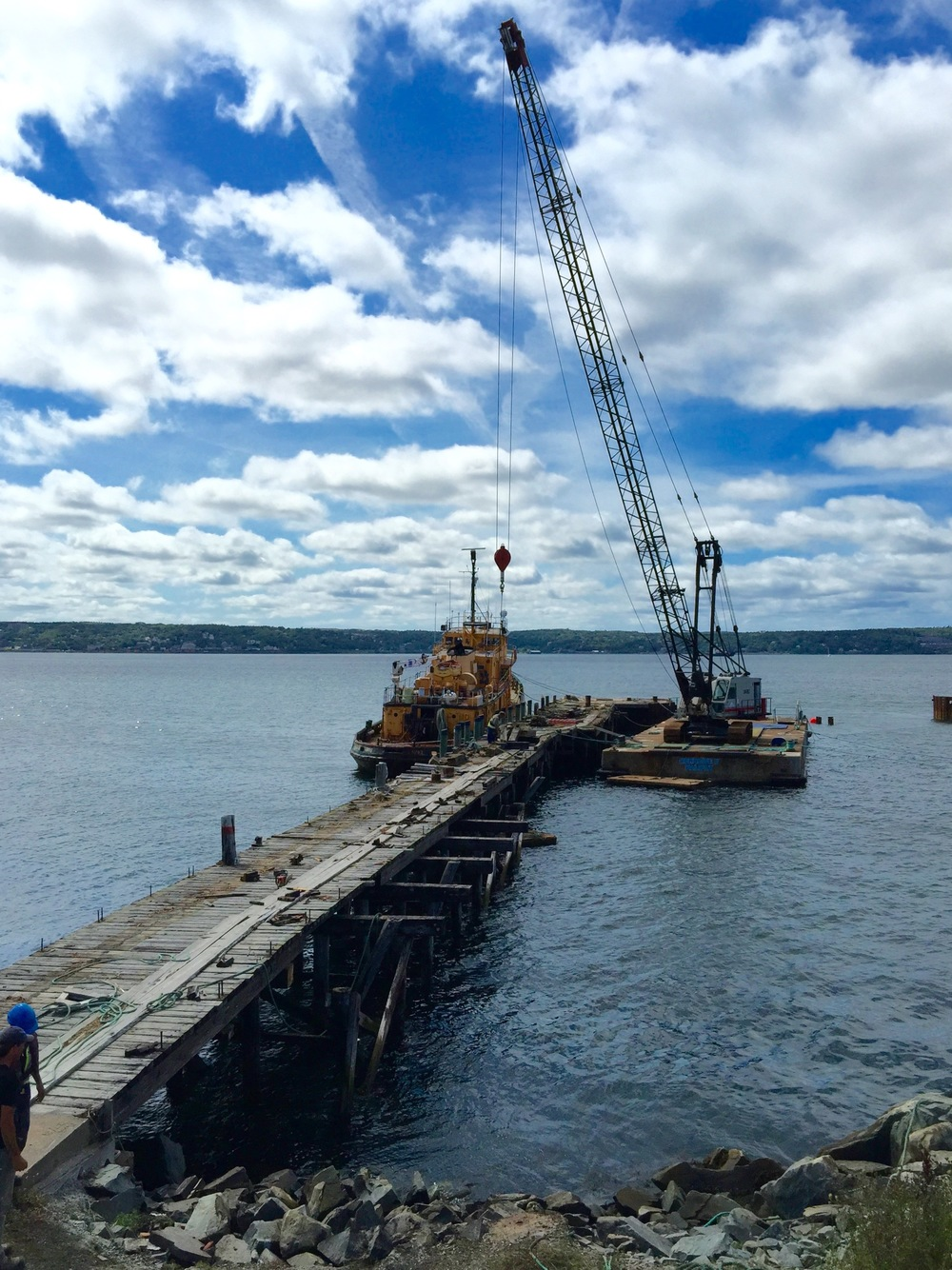 Wharf Deconstruction, Wright's Cove, NS