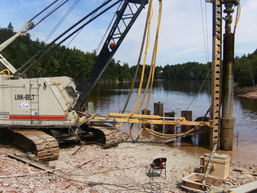Pile Drilling for Bridge Foundation