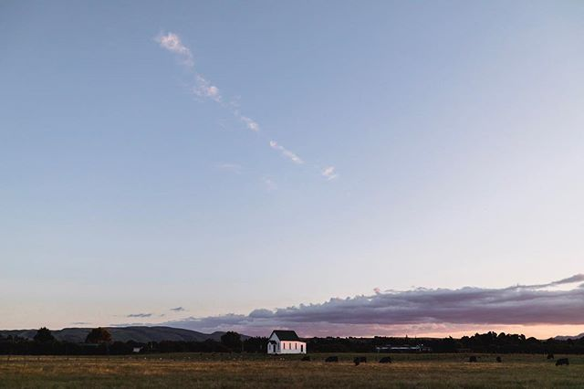 Soft sunset hues over the stunning Martinborough wine region in New Zealand's north island.