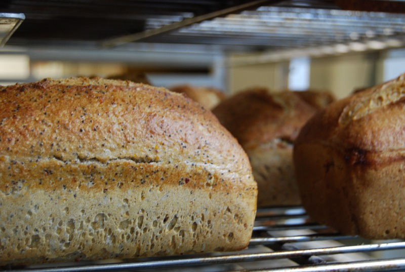 Poppy Corn.   Maine grown cornmeal, Maine Grown Whole Wheat flour and Organic White flour with abundant poppy seeds create a fun and flavorful bread,  Its natural sweetness is perfect for any sandwich or buttered toast.